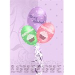 Be my valentine card cupcake lilac card - Greeting Card 5  x 7