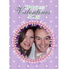 Be My Valentine Balloon Frame Card By Claire Mcallen   Greeting Card 5  X 7    Bpfizj478nku   Www Artscow Com Front Cover