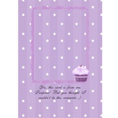 Be My Valentine Cupcake Card By Claire Mcallen   Greeting Card 5  X 7    Zzhtsoi80e2j   Www Artscow Com Back Cover