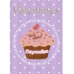 Be My Valentine Cupcake Card By Claire Mcallen   Greeting Card 5  X 7    Zzhtsoi80e2j   Www Artscow Com Front Cover