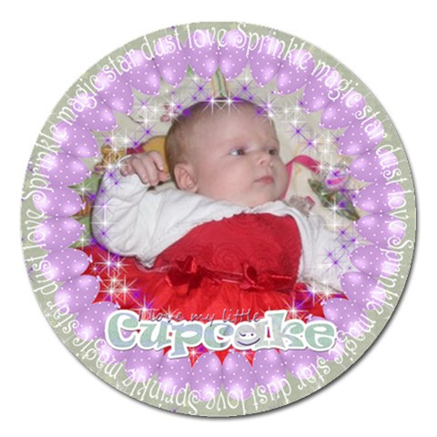 Sprinkle Magic Star Dust Magnet By Claire Mcallen   Magnet 5  (round)   5jv9llho0ba2   Www Artscow Com Front