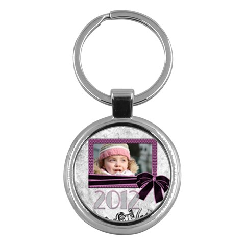 2012 Pink Key Chain By Deborah   Key Chain (round)   4h55kv1py5s9   Www Artscow Com Front