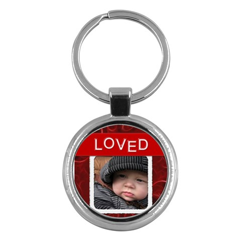 Loved Round Key Chain By Lil    Key Chain (round)   Ye1xgjl0l3ze   Www Artscow Com Front
