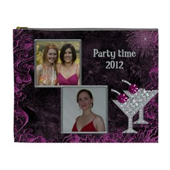 Party Time Xl Cosmetic Bag By Deborah   Cosmetic Bag (xl)   3no9b82ilhv6   Www Artscow Com Front
