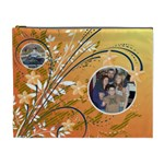 Orange Flower XL Cosmetic Bag - Cosmetic Bag (XL)