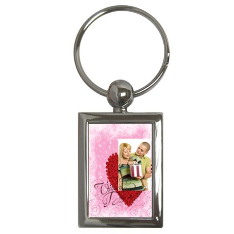 Love By May   Key Chain (rectangle)   R3i355ebyg0k   Www Artscow Com Front