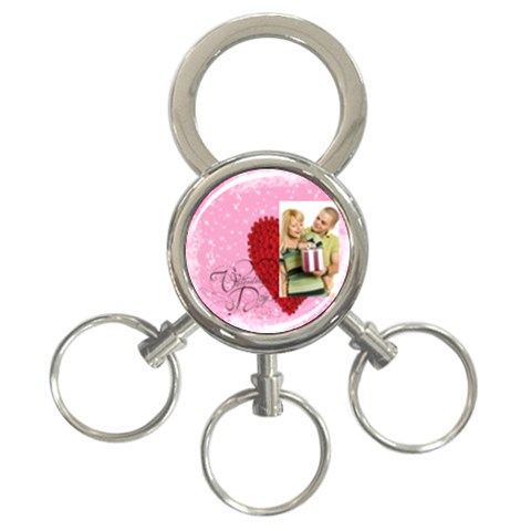 Love By May   3 Ring Key Chain   Wy8e1br9gnlr   Www Artscow Com Front