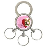 love - 3-Ring Key Chain