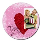 love - Round Mousepad