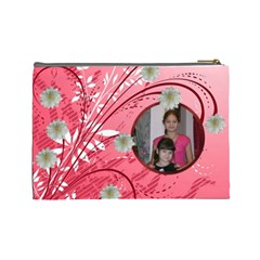 Red Swirl Large Cosmetic Bag By Kim Blair   Cosmetic Bag (large)   Gj5zn05j6kzt   Www Artscow Com Back