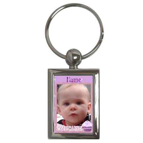 Purple Cupcakes Keyring By Claire Mcallen   Key Chain (rectangle)   Nbyv8hf3wkd5   Www Artscow Com Front