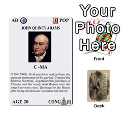 founding Fathers  Statesmen (action) 2012 By Tom Heaney   Playing Cards 54 Designs   6hx8r6lbrbt7   Www Artscow Com Front - Diamond7