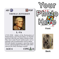 founding Fathers  Statesmen (action) 2012 By Tom Heaney   Playing Cards 54 Designs   6hx8r6lbrbt7   Www Artscow Com Front - Club7