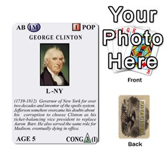 founding Fathers  Statesmen (action) 2012 By Tom Heaney   Playing Cards 54 Designs   6hx8r6lbrbt7   Www Artscow Com Front - Club8