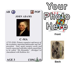 founding Fathers  Statesmen (action) 2012 By Tom Heaney   Playing Cards 54 Designs   6hx8r6lbrbt7   Www Artscow Com Front - Club9
