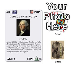 Queen  founding Fathers  Statesmen (action) 2012 By Tom Heaney   Playing Cards 54 Designs   6hx8r6lbrbt7   Www Artscow Com Front - ClubQ