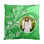 Green Floral Cushion Case two sides - Standard Cushion Case (Two Sides)