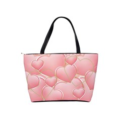 Pink Hearts Shoulder Bag By Deborah   Classic Shoulder Handbag   Xlghrtiym75c   Www Artscow Com Back