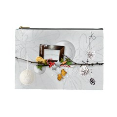 Winter Cosmetic Bag (l) By Elena Petrova   Cosmetic Bag (large)   Yvi40i7n4lms   Www Artscow Com Front