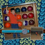 bowling 12x12 - ScrapBook Page 12  x 12