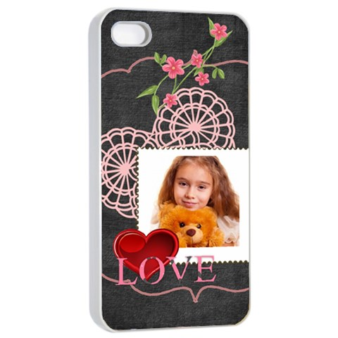 Love By Joely   Apple Iphone 4/4s Seamless Case (white)   Rf8o5uf9vind   Www Artscow Com Front