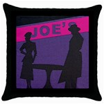 Film Noir Scene Throw Pillow Case (Black)