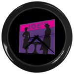Film Noir Scene Wall Clock (Black)