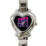 Film Noir Scene Heart Italian Charm Watch
