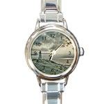 Peggy s Cove Lighthouse Round Italian Charm Watch