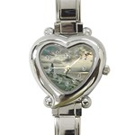 Peggy s Cove Lighthouse Heart Italian Charm Watch