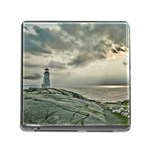 Peggy s Cove Lighthouse Memory Card Reader with Storage (Square)
