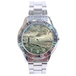 Peggy s Cove Lighthouse Stainless Steel Analogue Men's Watch