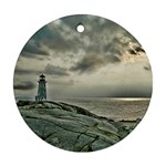 Peggy s Cove Lighthouse Ornament (Round)