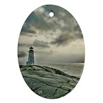 Peggy s Cove Lighthouse Ornament (Oval)