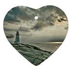 Peggy s Cove Lighthouse Ornament (Heart)