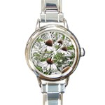 Frost Flowers Round Italian Charm Watch