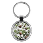 Frost Flowers Key Chain (Round)
