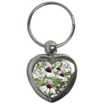Frost Flowers Key Chain (Heart)
