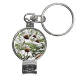 Frost Flowers Nail Clippers Key Chain