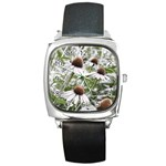 Frost Flowers Square Metal Watch