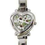 Frost Flowers Heart Italian Charm Watch