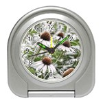 Frost Flowers Travel Alarm Clock