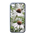Frost Flowers Apple iPhone 4 Case (Black)