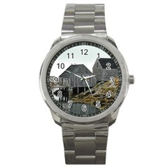 Peggy s Cove Dock Sport Metal Watch from ArtsNow.com Front