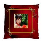 Red and Gold framed (2 sided) cushion - Standard Cushion Case (Two Sides)