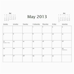 20133 By Cure   Wall Calendar 11  X 8 5  (12 Months)   P3ynt688qux7   Www Artscow Com May 2013