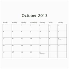 20133 By Cure   Wall Calendar 11  X 8 5  (12 Months)   P3ynt688qux7   Www Artscow Com Oct 2013