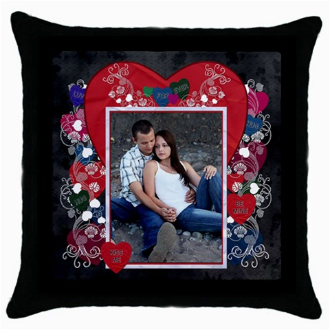 Forever Throw Pillow Case By Lil    Throw Pillow Case (black)   21wh9lylgiyx   Www Artscow Com Front