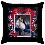 Forever Throw Pillow Case - Throw Pillow Case (Black)