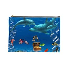 Sea Love By Chaido   Cosmetic Bag (large)   0jgl19fcikop   Www Artscow Com Front